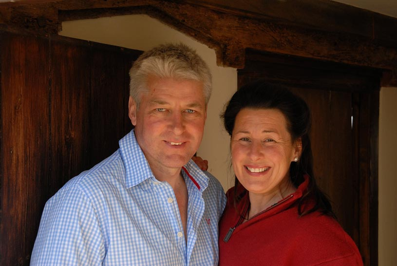 Louise and Roger Hutton of Food of Course Cookery School