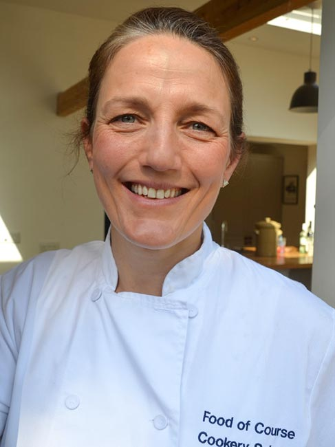 Steph Dunlop Techer at Food of COurse Cookery School in Somerset